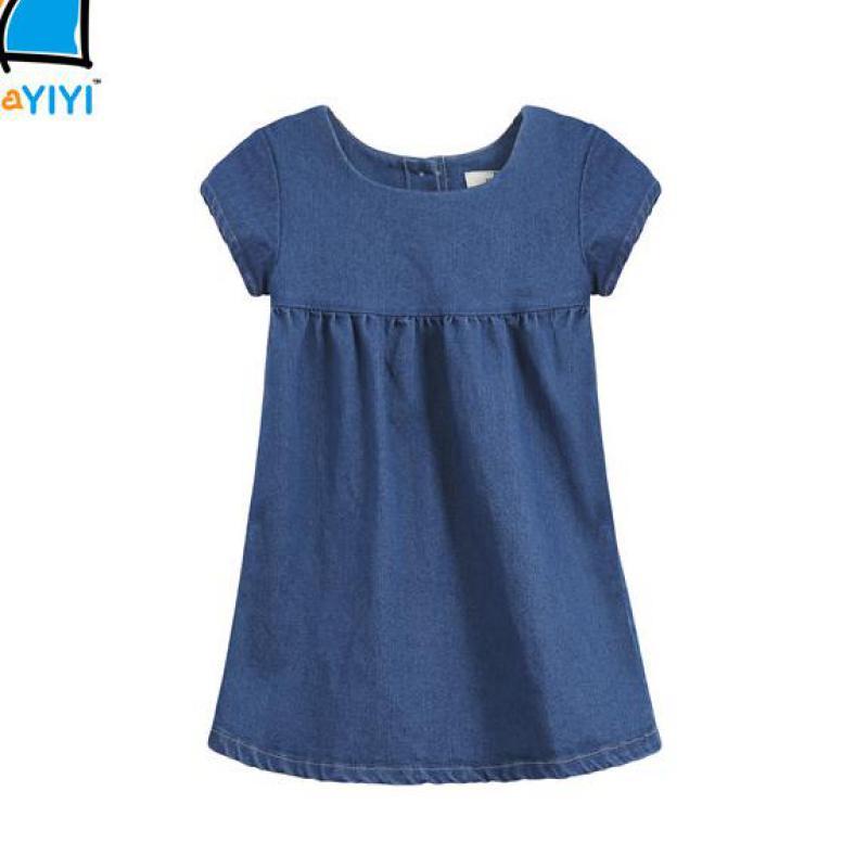 Vestidos Children Clothing Kids Clothes 2016 Brand New Baby Girls Dress Casual Princess Dresses Kids Denim Dress Vetement Fille(China (Mainland))