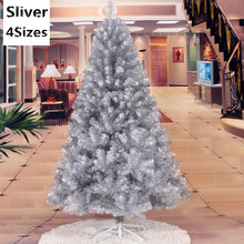4 Sizes Santa Claus Tree PVC Christmas Tree Sliver Christmas Tree Christmas Supplies & Christmas Decorations MCC241-243