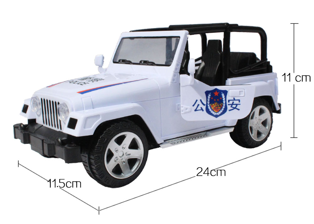 Police Series Vehicle Electric Automatic Car Music Flashing Wrangler Model Car kids Electric Toys Gift Box Toy(China (Mainland))