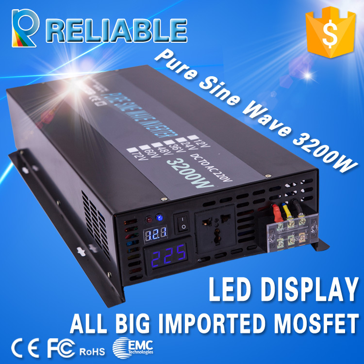 New Launching 3200W Full Power, LED Display, Off-Grid Inverter, DC to AC Pure Sine Wave Solar Inverter(China (Mainland))