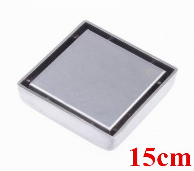 Free shipping 304 stainless steel 15cm*15cm anti-odor floor drain bathroom hardware square shower floor drain DR021<br><br>Aliexpress