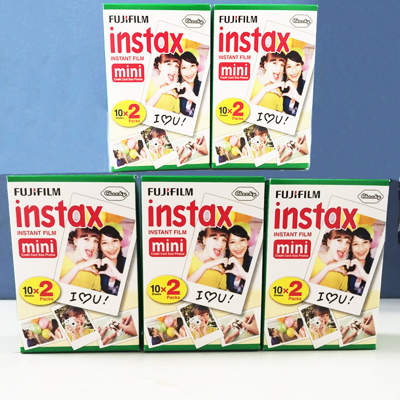 Genuine 100 sheets High quality Original Fujifilm instax mini 8 film for 7S 25 50s polaroid instant camera mini film white edage