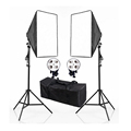 Photography Photo Studio 220V E27 4 Socket Lamp Head Softbox Light Stand Lighting Kits 4 Socket