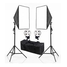 Photography Photo Studio 220V E27 4 Socket Lamp Head Softbox Light Stand Lighting Kits 4 Socket Lamp Holder Soft Box Stand Set