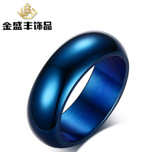 Buy USA UK Canada Russia Brazil Legend Zelda Shiny Blue black ring Dome Men's Lord Fashion Tungsten Wedding Ring for $6.88 in AliExpress store