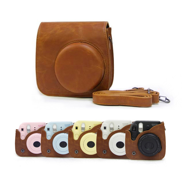 Vintage Camera Bag New Fujifilm Fuji Leather Case Shoulder Strap Pouch P179 - eeeShopping store