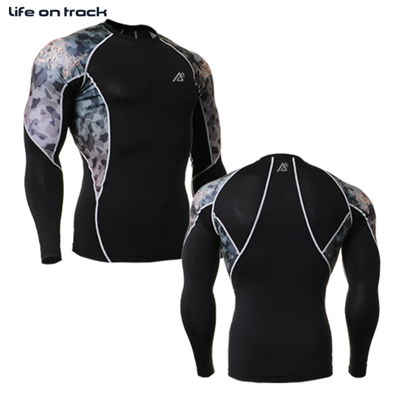 2015 Brand New Technical Graphic Compression Shirts Fitness GYM Base Layer Tights Weightlifting Bodybuilding MMA Tops Shirt - Life on track official store