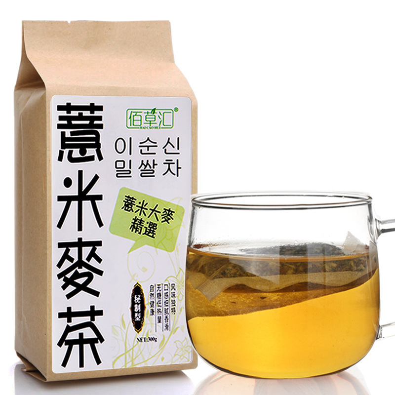 300g China Coix Lacryma Jobi L Natural Roasted Barley Tea Organic Health Care Grain Tea Damai