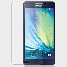 0.3mm Tempered Glass for Samsung Galaxy A5 2.5d Arc Edge Anti Explostion Fingher Print Film with Clean tools
