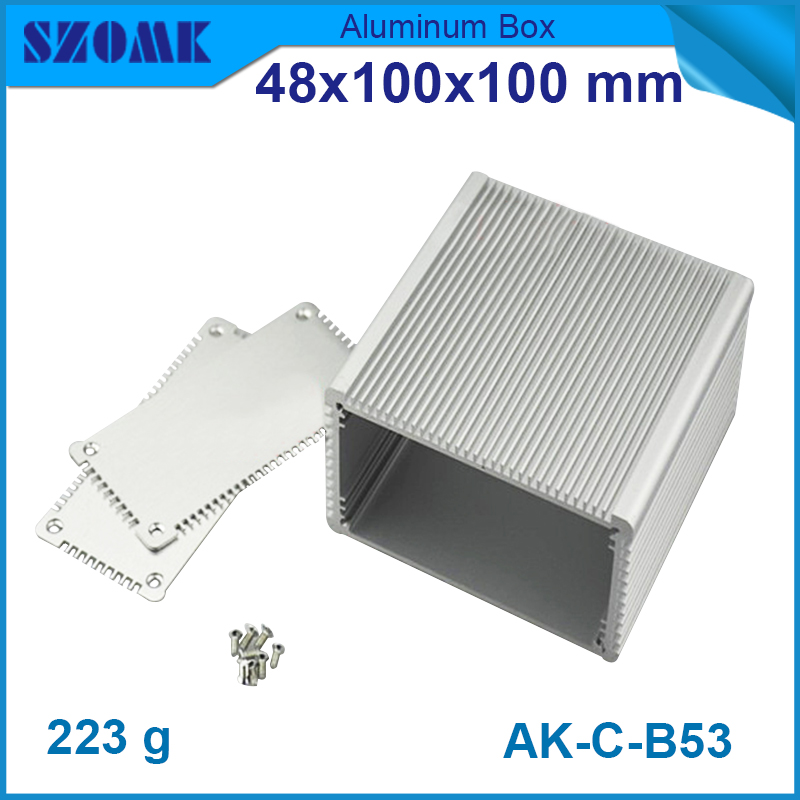 1 piece free shipping aluminum radiator style junction housing electronics  48(H)x100W)x100L) mm <br><br>Aliexpress