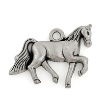 10pcs 27.5*20.5 mm horse tibetan silver lucky charm(China (Mainland))