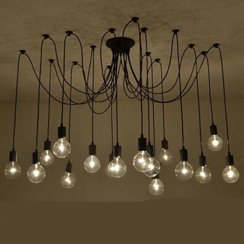 retro spider pendant lights classic decorative loft lamp