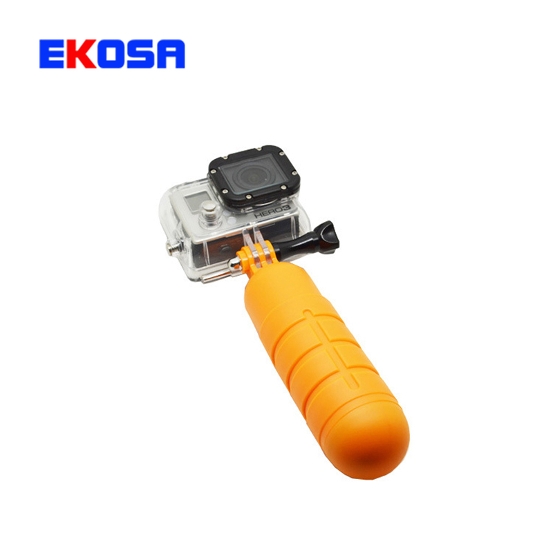 Action Camera Accessories Bobber Floating Hand Grip Tripod Handle Mount Screw Strap for Gopro Hero 1 2 3 3+ 4 SJCAM sport cam(China (Mainland))
