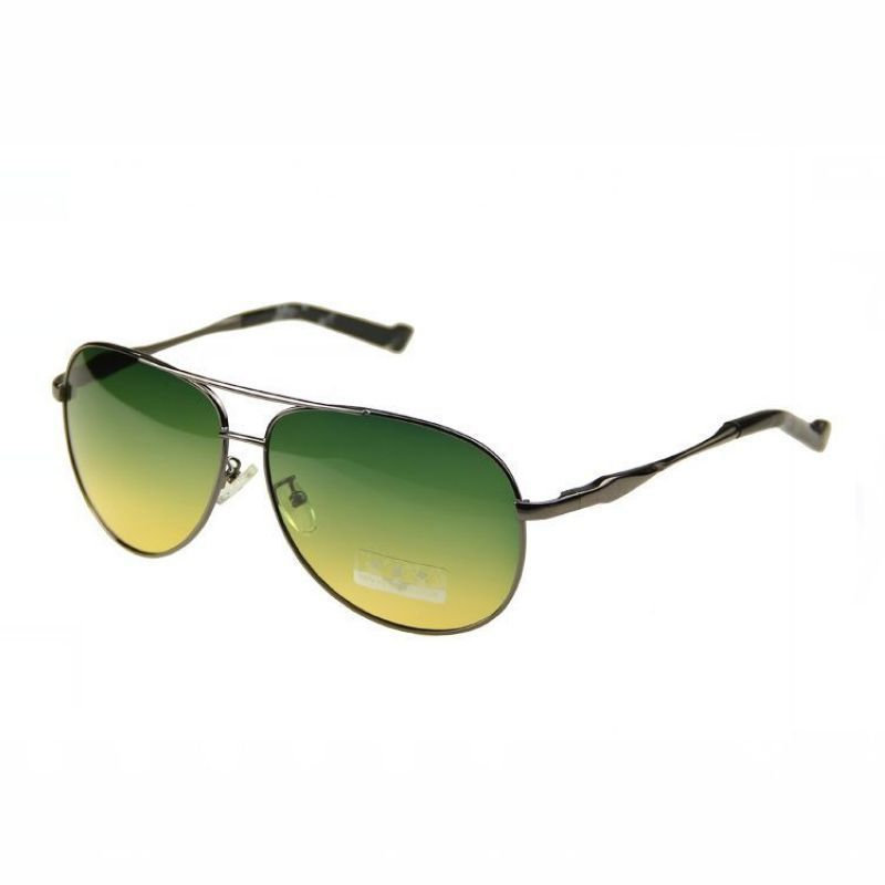 Mens Yellow Frame Sunglasses : Night Vision Car Driving Polarized Glasses For Men Metal ...