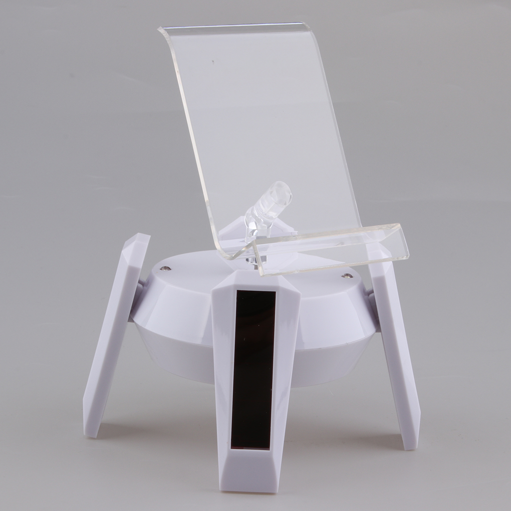 Поворотный дисплей на солнечной энергии стойка подставка поворотный стол с Solar Powered Rotary Display Stand Base Rack Turntable with Lights for smartphones mobiles