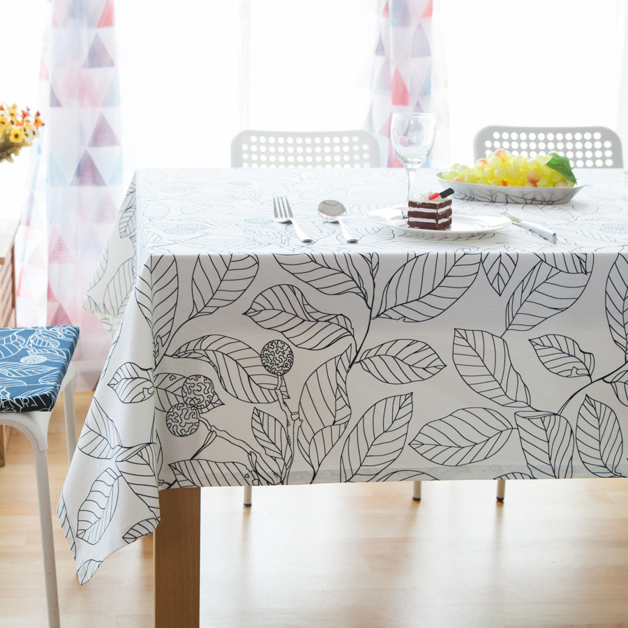 High Quality Cotton Table Cloth Printed Leaves Europe Style Coffee Tablecloth Square Rectangular Fabric Pad Home Textile Decor(China (Mainland))