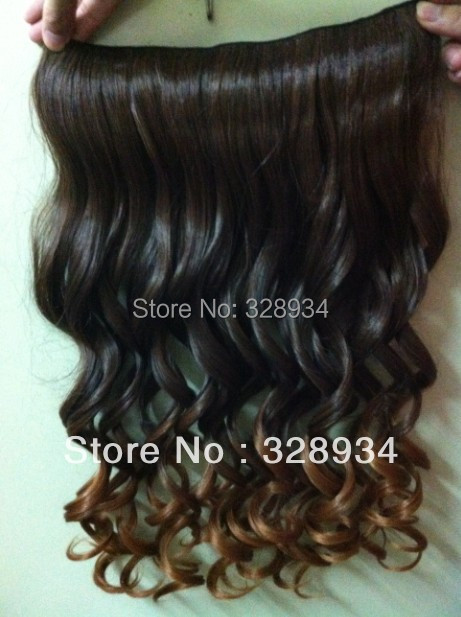 cheap wholesale 50pcs lot 20 inches three tone synthetic ombre hair extension high temperature wire clip in hair free shipping<br><br>Aliexpress