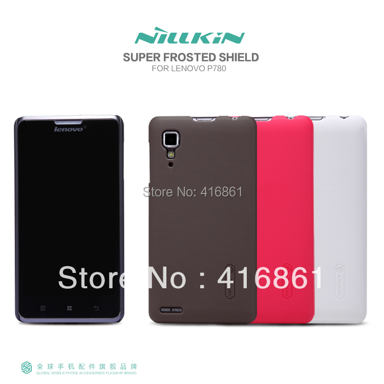 New product ! NILLKIN super frosted shield case for Lenovo P780 free shipping + screen protector + retailed package(China (Mainland))