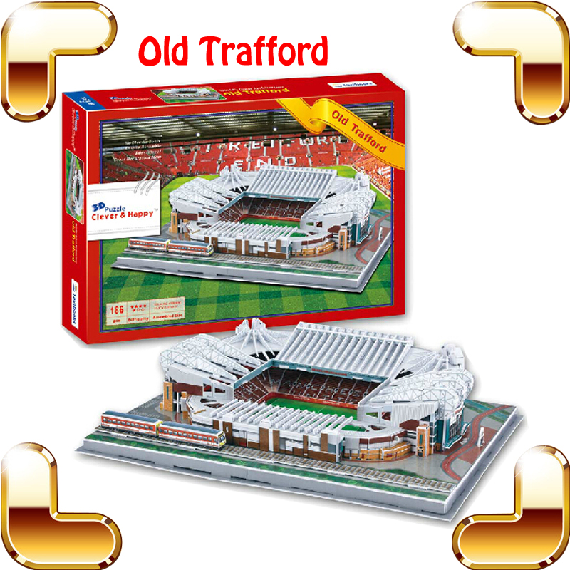 Free Shipping Z-B188 Man united Old Trafford Stadium 3D Puzzle Build Puzzle Model Scale Football Playground Fans Collection Toys<br><br>Aliexpress