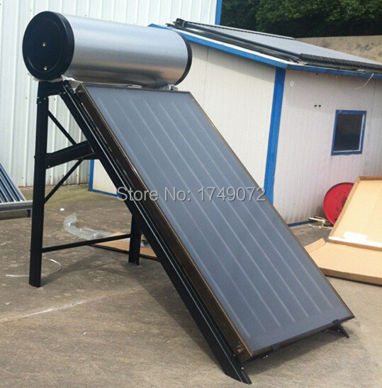 High Efficiency and Quality Flat Panel Solar Water Heater, Blue Titanium Collector,Flat Plate Solar energy,150L(China (Mainland))