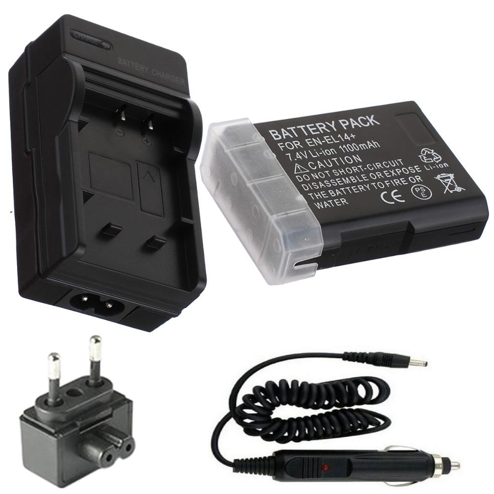 EN-EL14 Battery+Charger for Nikon Coolpix P7000,P7100,P7700 Digital Camera and Nikon D3100,D3200,D5100,D5200 Digital SLR Camera<br><br>Aliexpress