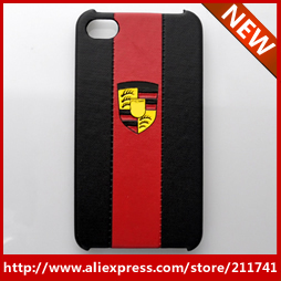 20pcs free shipping cheapest Wholesale famous car brand design leather covers for iphone 4 4s