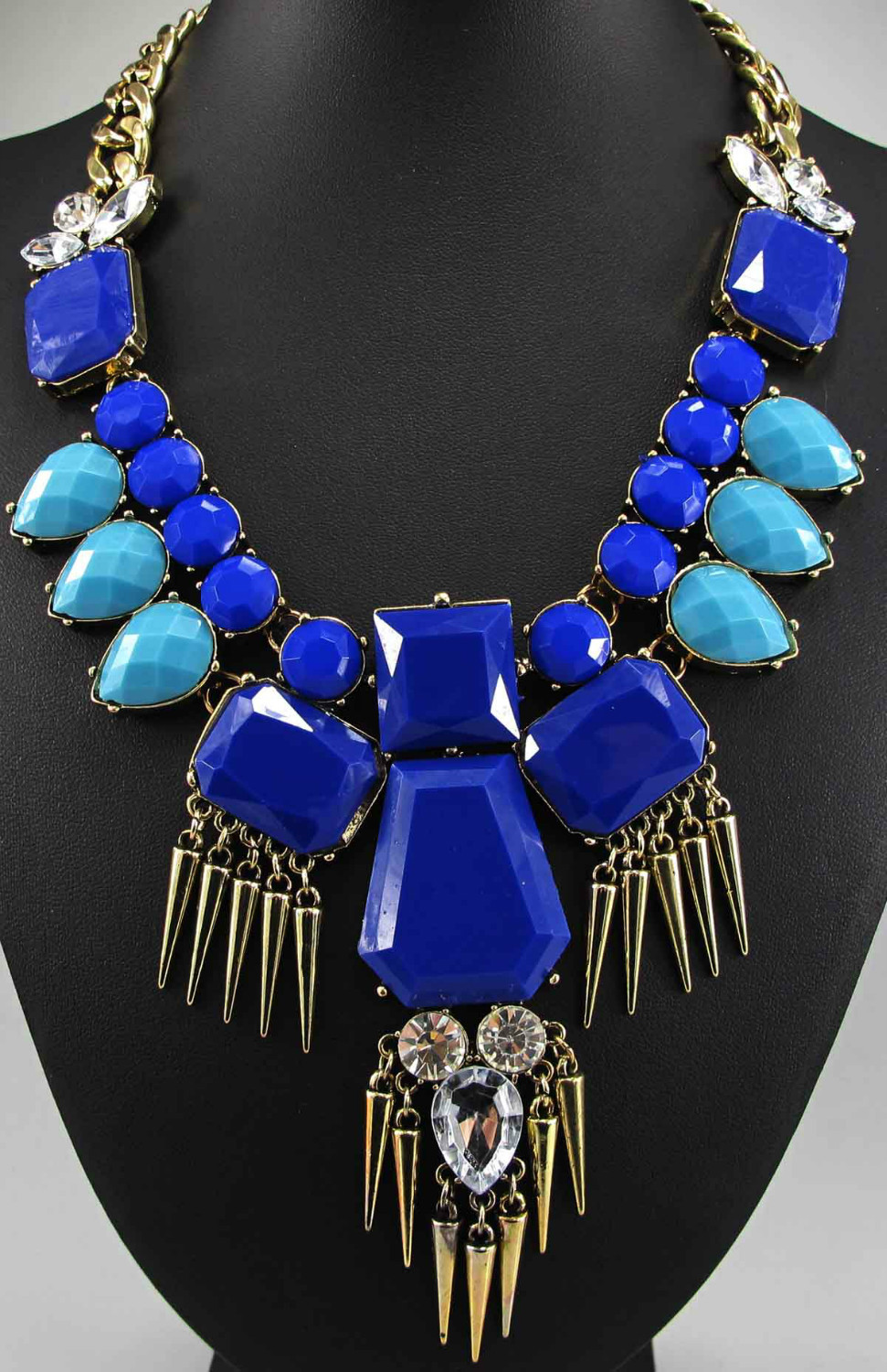 Newest Gorgeous Fashion Necklace Jewelry crystal ra Department Statement Necklace Women Choker Necklaces Pendants q490(China (Mainland))