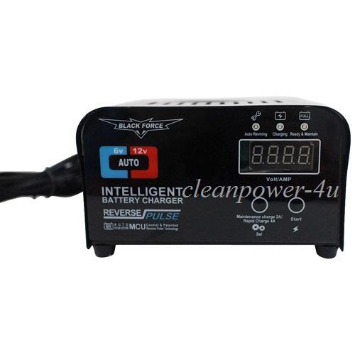 Smart 6V/12V 1A/2A/3A/4A Switchable Car Battery Charger Negative Pulse Intelligent Battery Maintenance(China (Mainland))