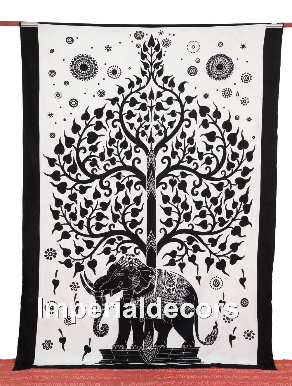 Bedsheet indian elephant tapestry mandala wall hanging for Fomic sheet wall hanging