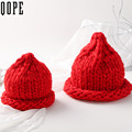 Adult women Winter solid Beanies Crochet Knitted Cottonb warm bonnet Gorros Caps For child skullies Turban