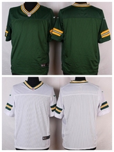 Green Bay Packers #27 Eddie Lacy Elite White and Green Team Color free shipping(China (Mainland))