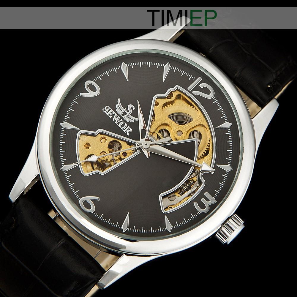 Mechanical Steampunk Skeleton Hand Wind Watch