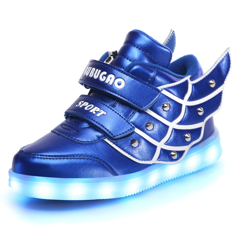 Children Shoes With Light Up Sneakers For Kids USB Charging Sole Luminous Led Shoes Girls Boys 7 COLORS With Wings sneakers<br><br>Aliexpress
