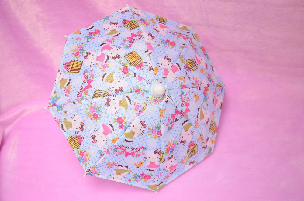 "Doll umbrella fit 18"" American Girl Doll - kitty print, no doll(China (Mainland))"