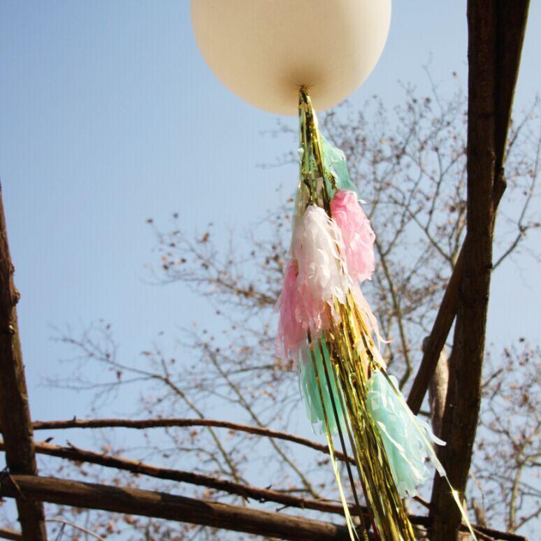 16pcs DIY Fringe Balloon tissue paper Tassel , Baby Shower , Wedding, Birthday(China (Mainland))