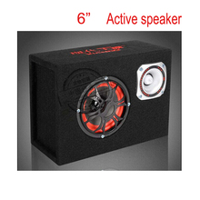 portable  6 inch 12v , 220v car audio hifi portable active speakers with remote, KTV boom box stage hifi speaker subwoofers(China (Mainland))