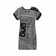 Women dress 2015 summer dress plus size casual women clothing chic fashion loose print floral t-shirt dresses vestidos(China (Mainland))