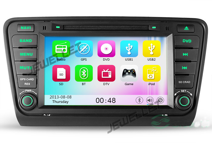 car DVD GPS Navigation for Skoda Octavia 2014 with Bluetooth 3G/Wifi DVR 1080P(China (Mainland))