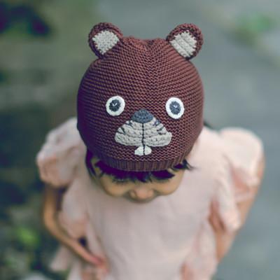 2016 New baby autumn winter hats crochet baby caps girls winter hat Kids gorros Cartoon squirrel bebes hat XL356(China (Mainland))