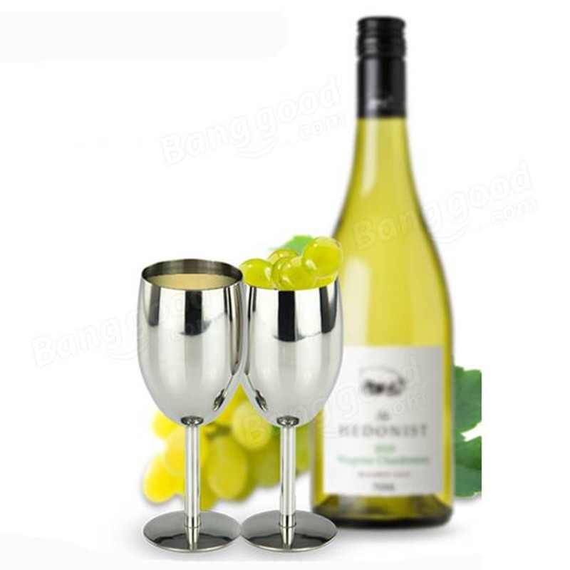 Best Promotion!! Fashion 1PCS 304 Stainless Steel Wine Cup Champagne Goblet Cup Party Wedding Wine Cup Bar Home Drinkware Gift(China (Mainland))