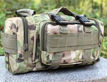 Men Tactical Waist Pack Shoulder Bag Handbag Military Camping Hiking Sport Outdoor Multi-purpose Bag Mud color
