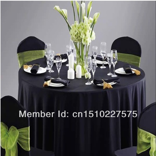 """Black Hotel table cloth/Round table cloth/120"""" Polyester table cloth/(China (Mainland))"""