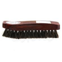 Professional Natural Bristle Horse Hair Shoe Shine Polish Buffing Brush Wooden(China (Mainland))
