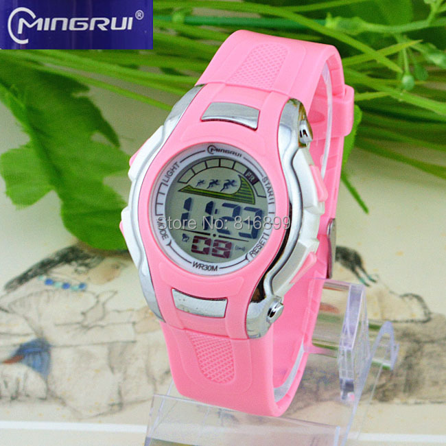 Boy and girl Digital Watch Sports Alarm Stopwatch Watches 30M Waterproof Children's Wristwatches Student Hours New 2015(China (Mainland))