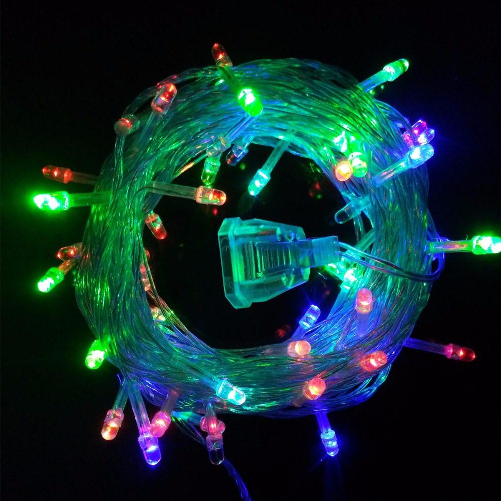 10m 50 leds led string lights fairy christmas lights for Outdoor christmas lights