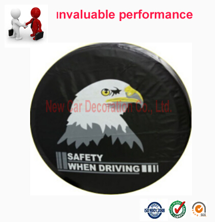 Car Styling Universal PVC Spare Tire cover 14'' 15'' 16'' 17'' Wheel Accessories For Vehicle Truck SUV(China (Mainland))
