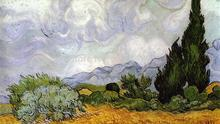 Buy Masterpiece Reputation 100% Hand-painted Impressionist Oil Painting Wheat Field Cypresses Vincent Van Gogh for $31.50 in AliExpress store