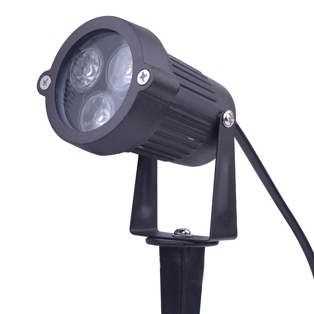 9w 12v led path landscape light lawn flood spot light lamp for Led yard lights