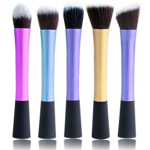 1 PCS Hot sale 5 Types 4 Colors Pro Concealer Dense Powder Blush Facial Care Foundation Brush Cosmetic Makeup Tools(China (Mainland))