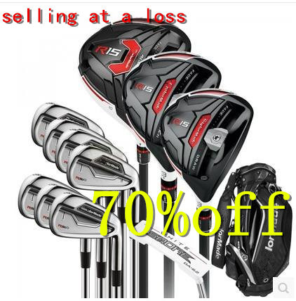 selling at a loss brand golf clubs male full golf set graphite shaft with golf bag head covers free shipping ems limited sales(China (Mainland))